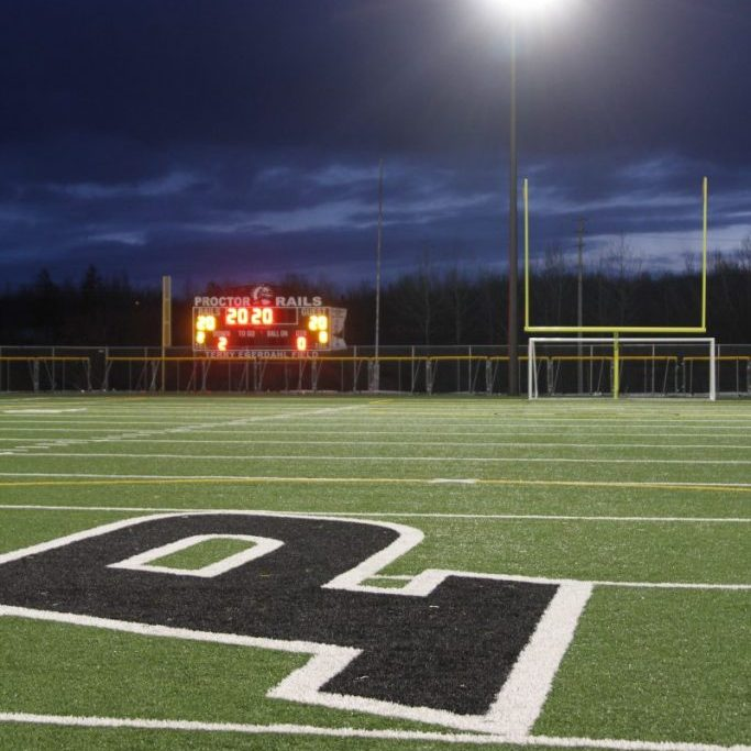 field lights with P